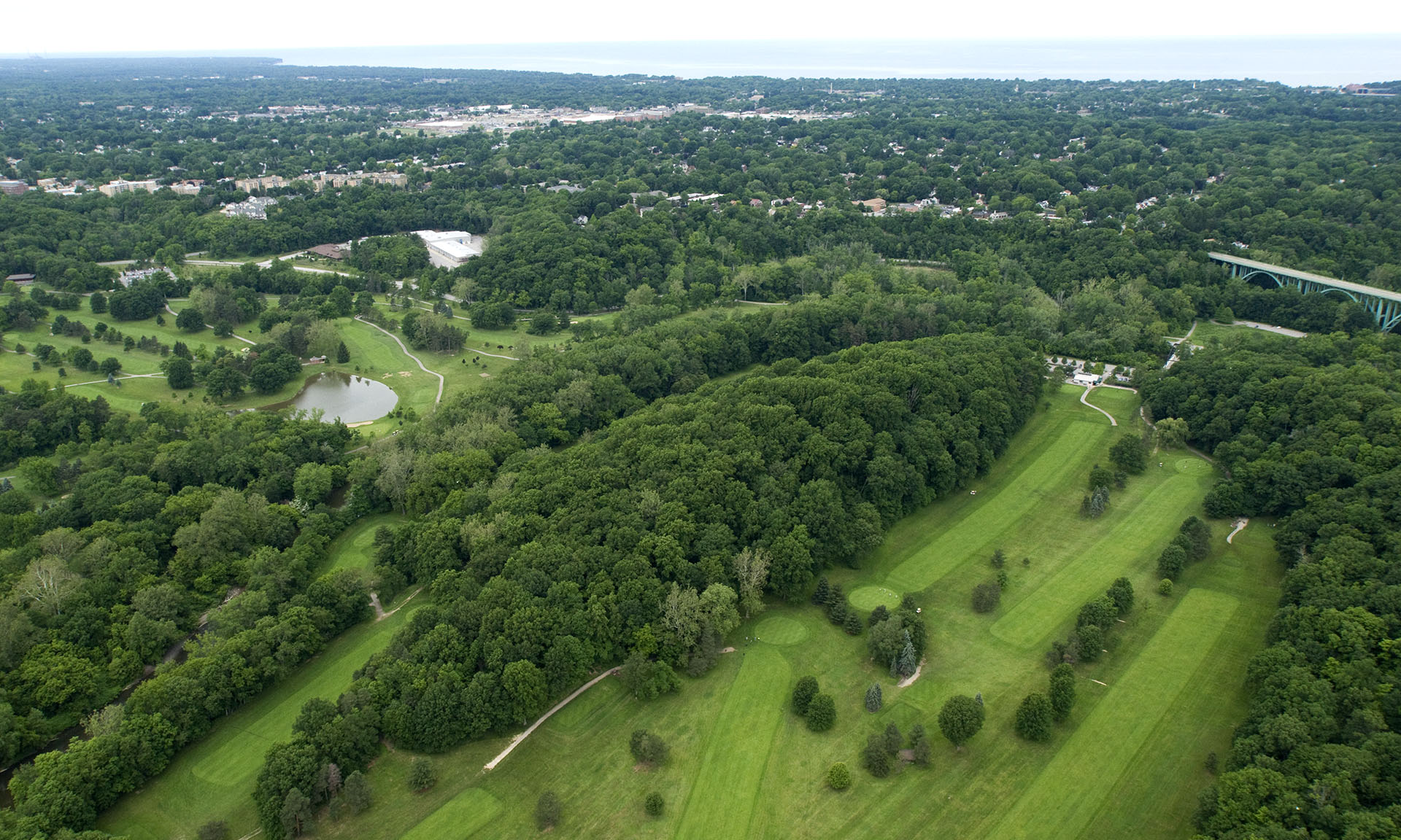 Arial View of Little Met Golf Course Fairway