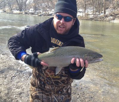 Rocky river fishing report march 28 2013 cleveland for Cleveland metroparks fishing report