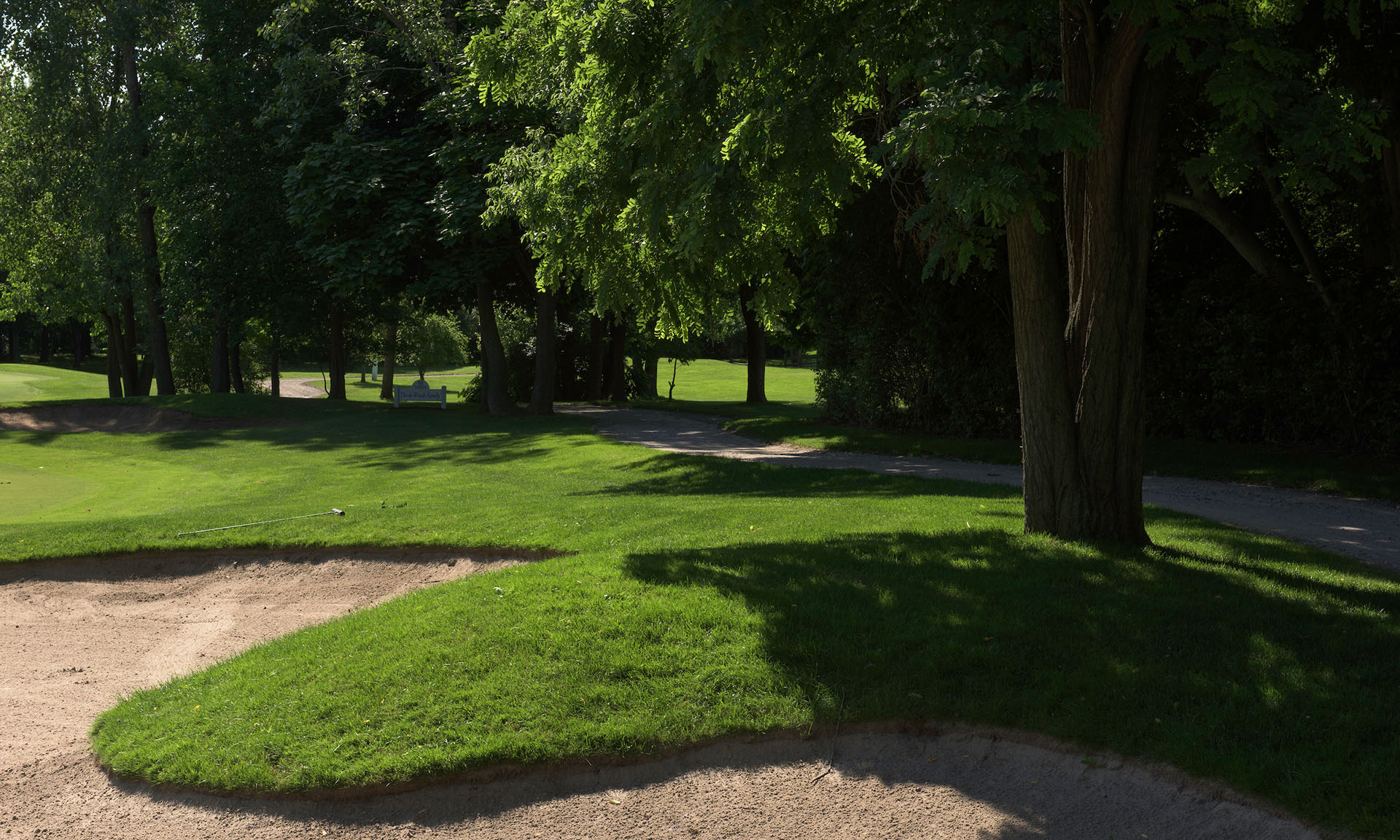 Sandpit, Fairway and Path at Washington Golf Course