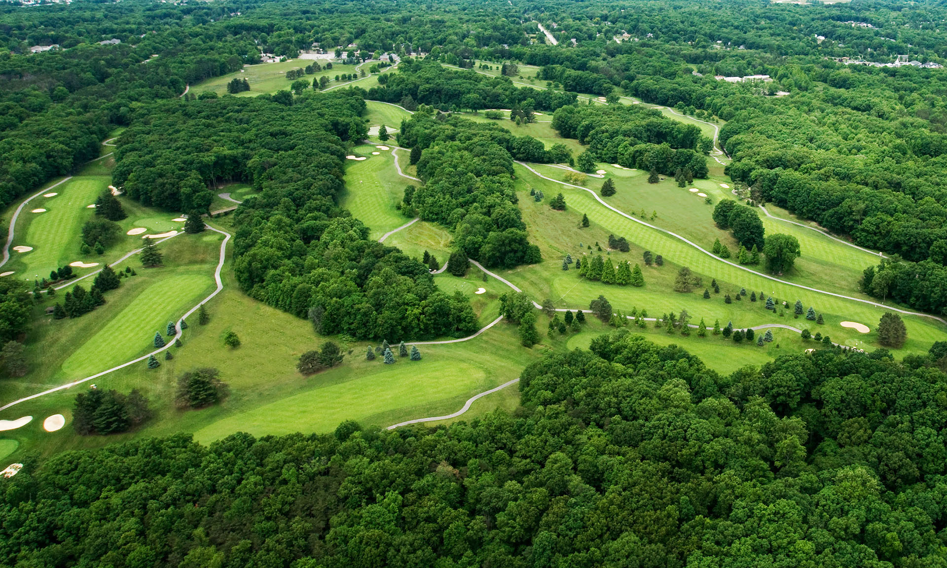 Arial view of Sleepy Hollow Golf Course