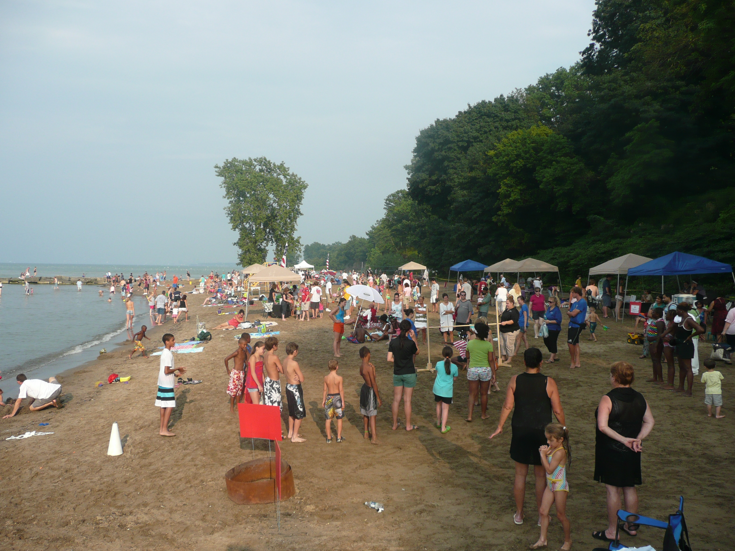 COME OUT AND PLAY ON THE BEACH AT CLEVELAND METROPARKS SUMMER BEACH PARTY