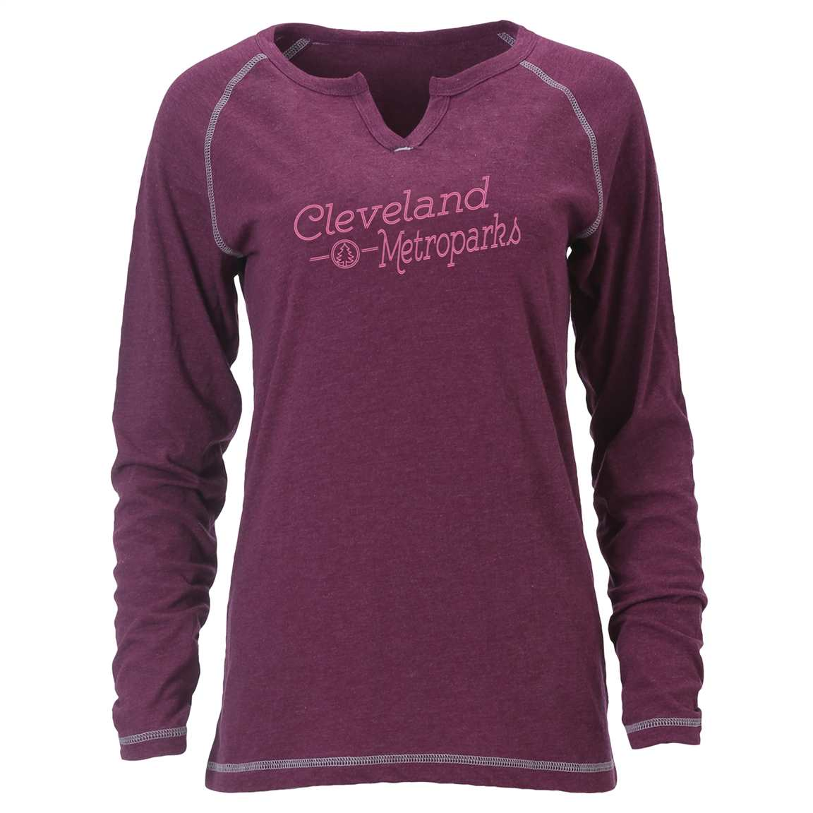 Ladies vneck LS