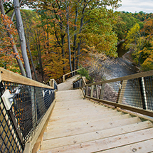 New Fort Hill Stairs Open in Cleveland Metroparks Rocky River Reservation