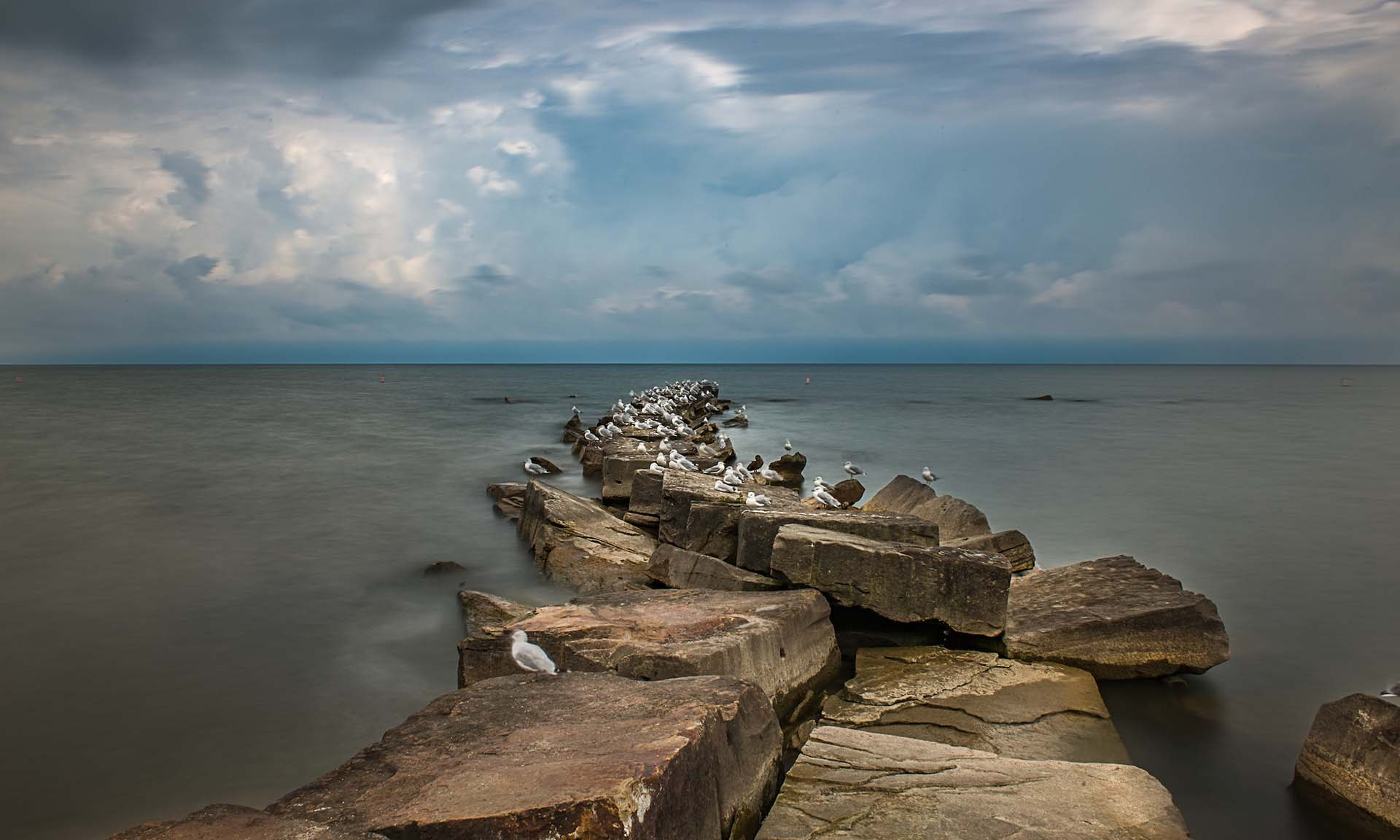 Huntington Reservation view of Lake Erie as a Storm Blows In