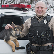 Cleveland Metroparks Swear-In New Patrol and Explosives Canine Officer, Tyson