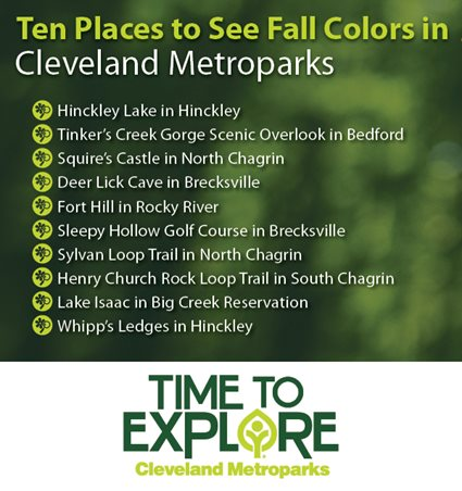 Ten Places to See Fall Colors graphic