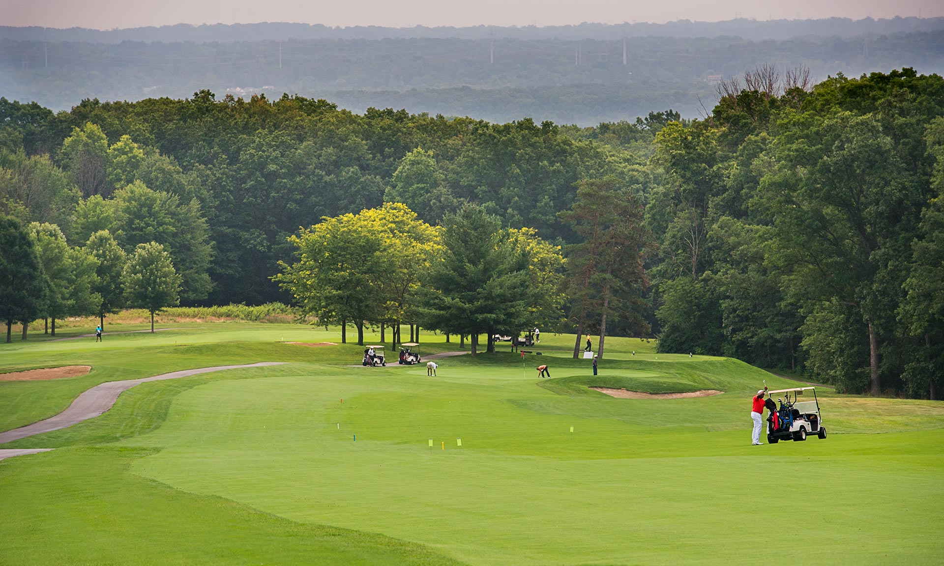 Views of Cuyahoga River Valley on Sleep Hollow Golf Course