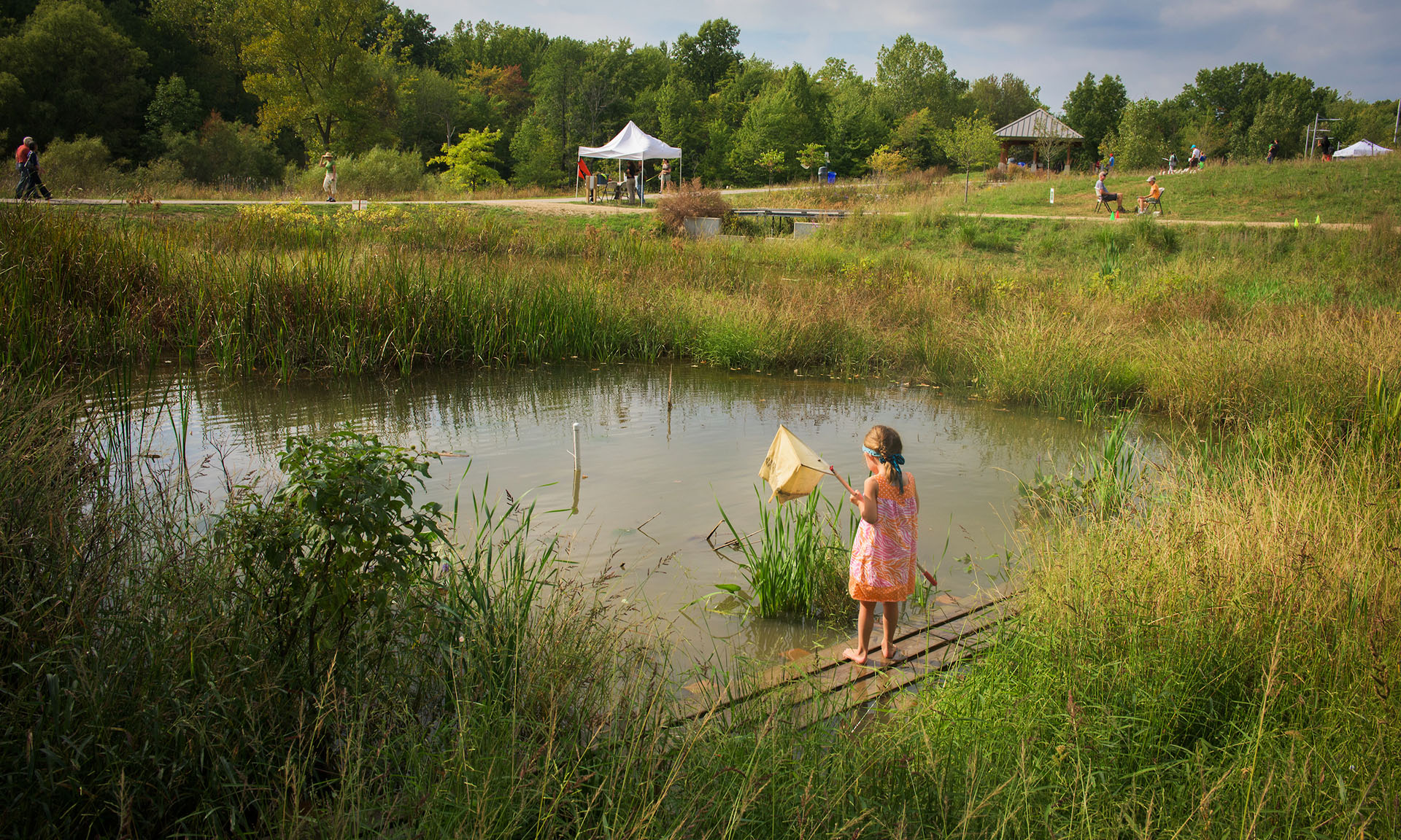 Little Girl Fishing at West Creek Reservation Pond