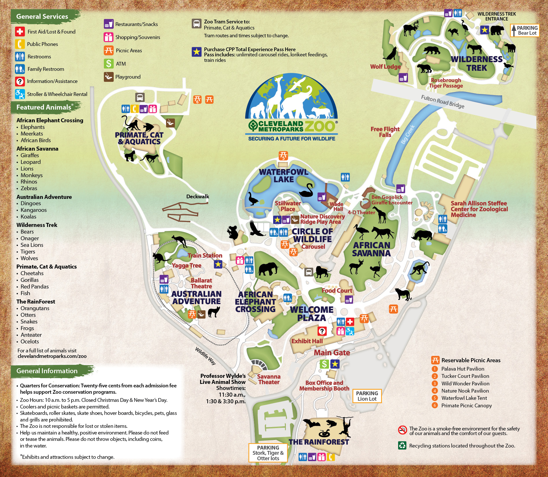 Cleveland Metroparks Zoo Map Best Zoo 2017