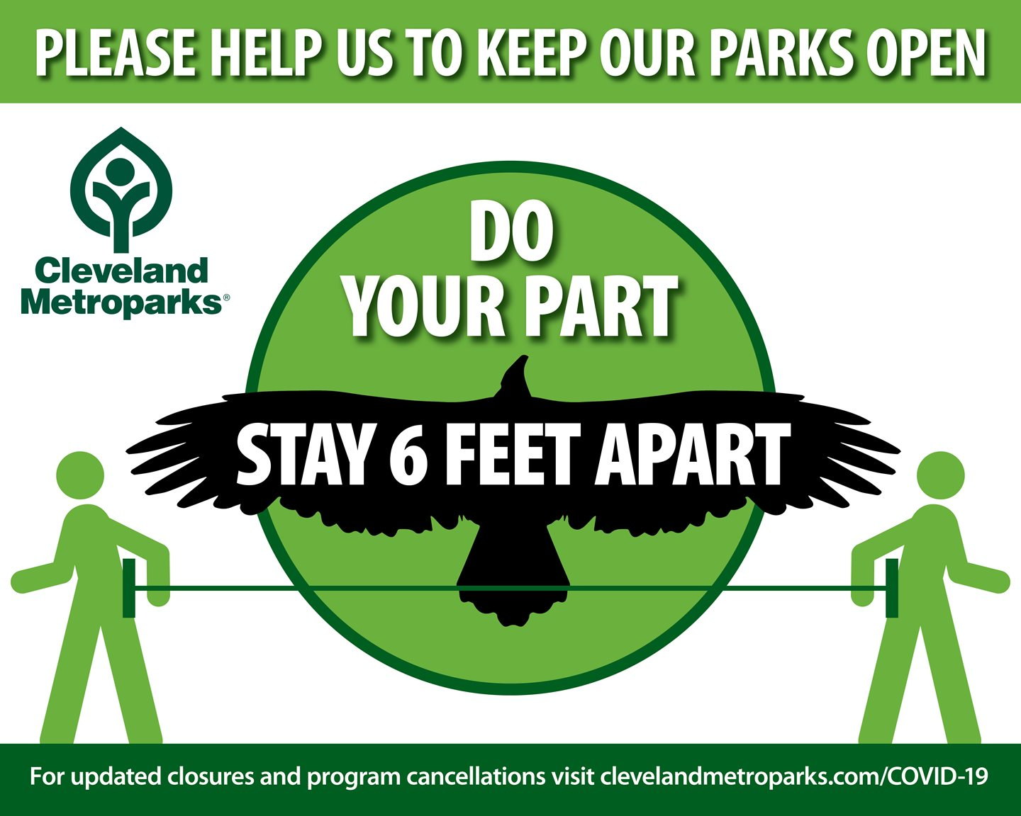 Cleveland Metroparks Implements New Measures to Encourage Social Distancing