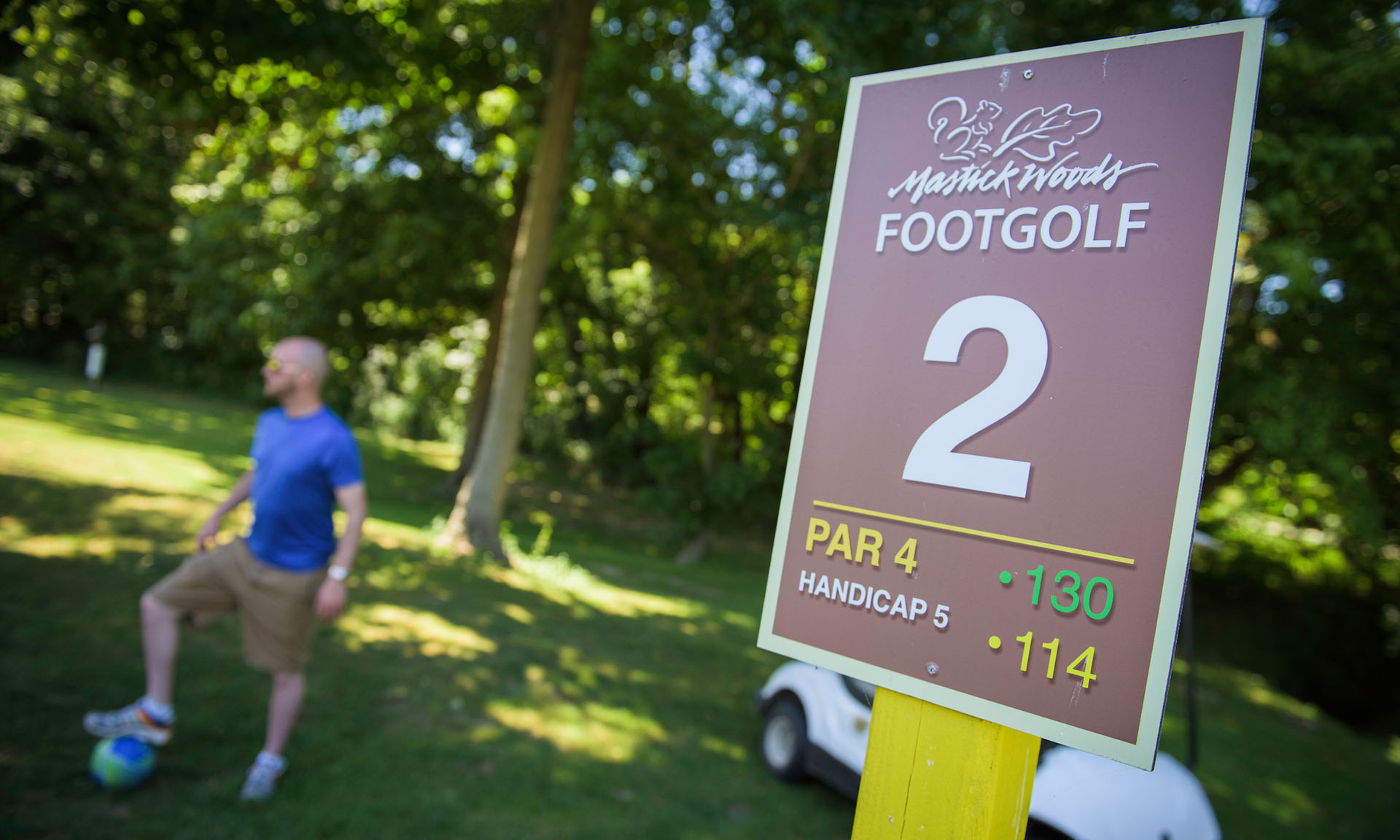 Course #2 at Mastick Woods FootGolf